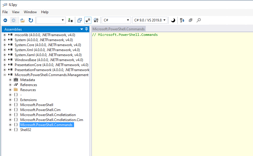The Microsoft.Powershell.Commands Namespace